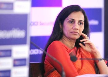 Chanda Kochhar, Chairperson of ICICI Securities Ltd. at IPO press conference at Taj Vivanta hotel on Thursday. Express photo by Pradip Das, 15th March 2018, Mumbai.