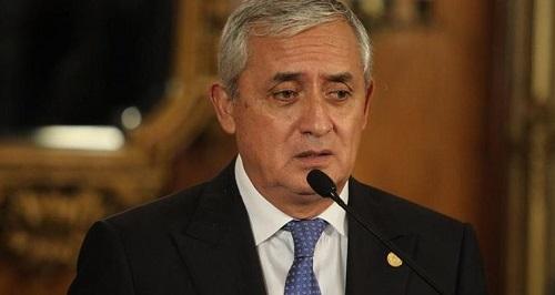 Ex presidente de Guatemala, Otto Pérez