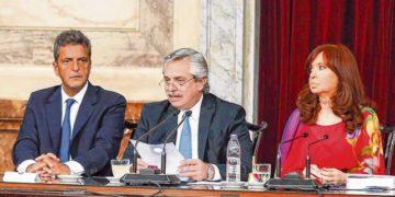 Alberto Fernández en su discurso en el Congreso