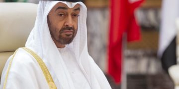 "This handout photo taken and released by the Saudi Royal Palace on May 31, 2019 shows Bahrain's Sheikh Mohammed bin Zayed Al Nahyan, Crown Prince of Abu Dhabi and Deputy Supreme Commander of the UAE Armed Forces, attending the Gulf Cooperation Council (GCC) held at al-Safa Royal Palace in the Saudi holy city of Mecca. (Photo by BANDAR AL-JALOUD / Saudi Royal Palace / AFP) / RESTRICTED TO EDITORIAL USE - MANDATORY CREDIT ""AFP PHOTO /  SAUDI ROYAL PALACE / BANDAR AL-JALOUD "" - NO MARKETING NO ADVERTISING CAMPAIGNS - DISTRIBUTED AS A SERVICE TO CLIENTS"